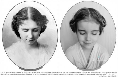 A escritora e filosofa Helen Keller