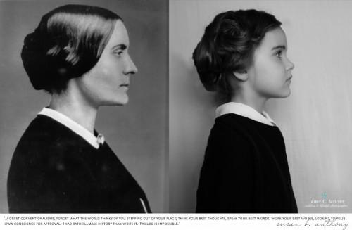 A feminista Susan B. Anthony, que lutou pelos direitos das mulheres no século XIX
