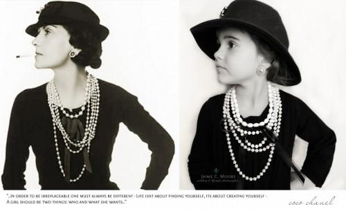 A estilista francesa Coco Chanel