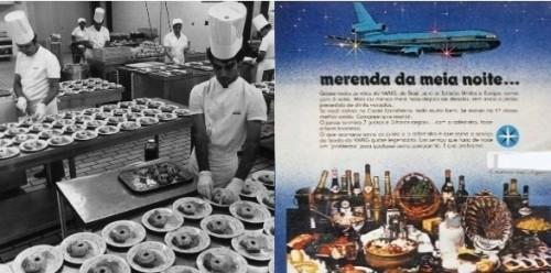 Propaganda da Varig mostrava a fartura do serviço de bordo