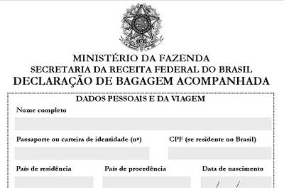 Infraero pro be a entrada de certos produtos estrangeiros no brasil revista embarque for Declaracao de bens viagem exterior
