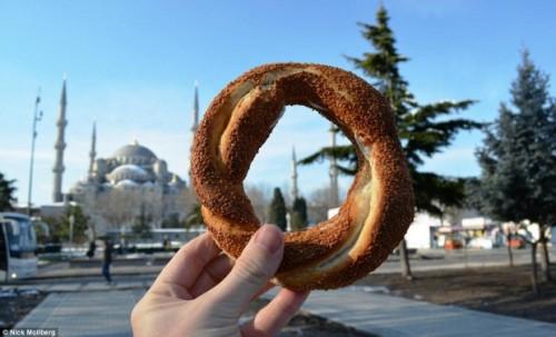 Pretzel em estilo turco, na Túrquia