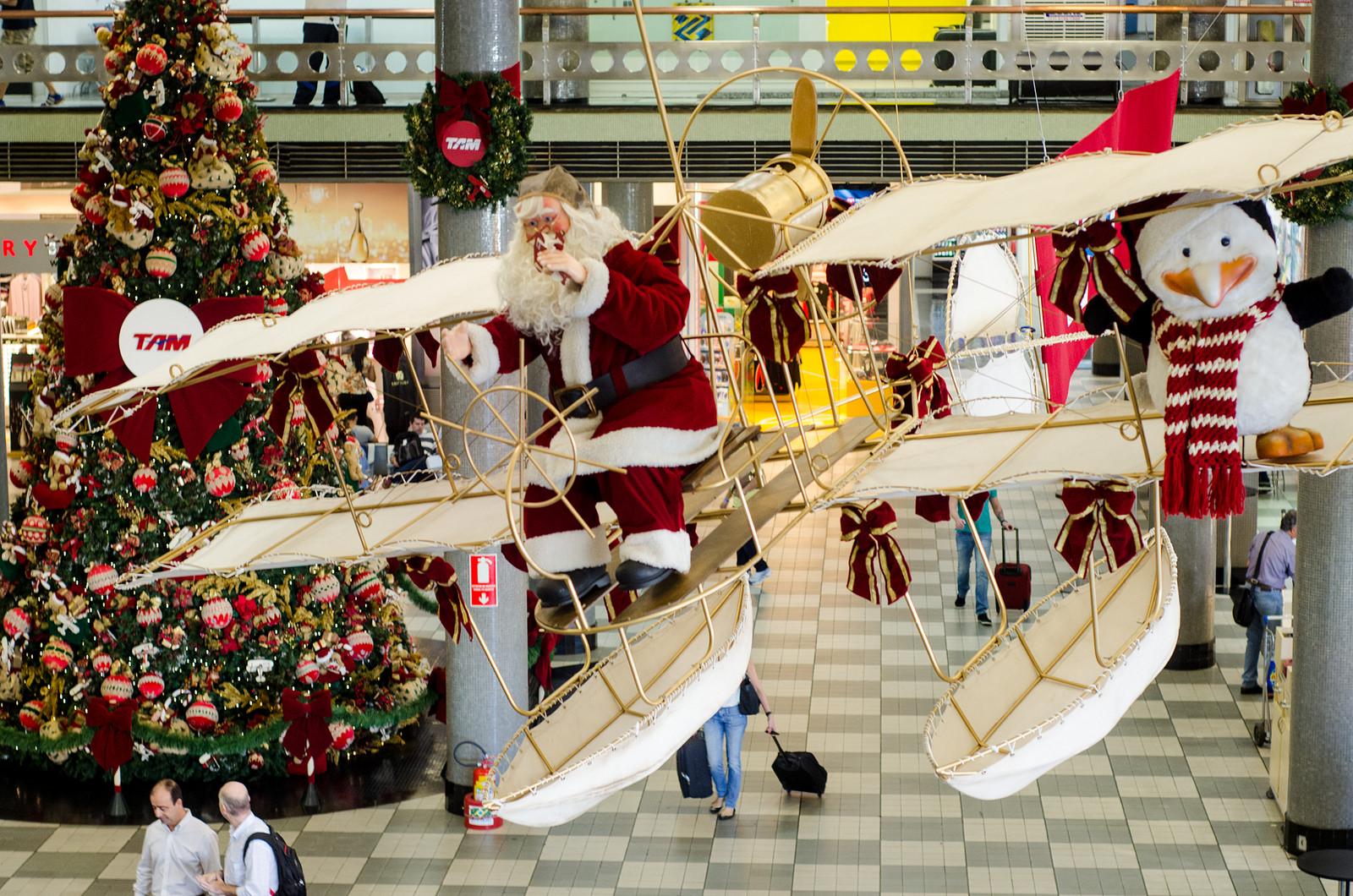 Aeroporto Sp : Sp: aeroporto de congonhas recebe corais natalinos e decoração