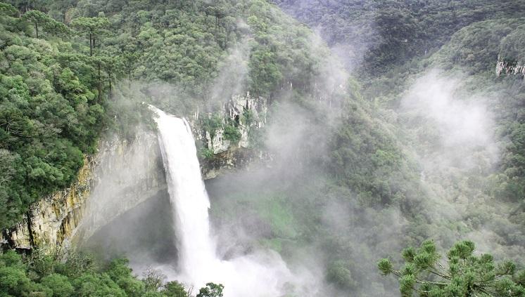 Cachoeira do Caracol, em Canela. Crédito: Ricardo Varela/Prefeitura de Canela