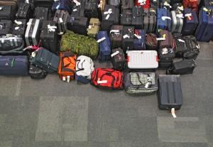 Bagagens perdidas em aeroporto