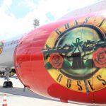 Aeronave da banda Guns'N Roses pousa em Viracopos