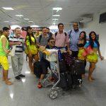 Blocos de Carnaval recepcionam passageiros no Aeroporto no Pará