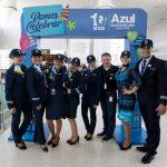 Azul celebra 10 anos e clientes participam da comemoração em Viracopos
